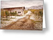 Vineyard Store House Greeting Card