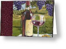 Vineyard Wine Tasting Collage I Greeting Card