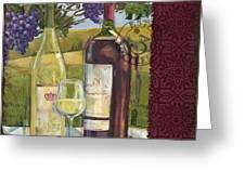 Vineyard Wine Tasting Collage II Greeting Card