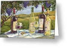 Vineyard Wine Tasting Greeting Card
