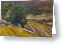 Vineyards Of The Luberon Greeting Card