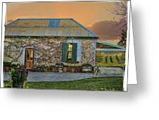 Vino Cottage Greeting Card