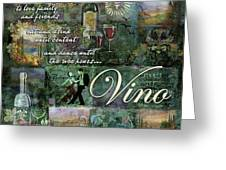 Vino Greeting Card