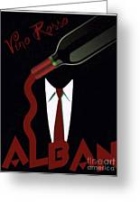 Vino Rosso  Greeting Card