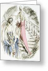 Vintage 1920s Fashion Plate  Evening Dresses Greeting Card