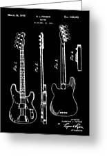 Vintage 1953 Fender Base Patent Greeting Card