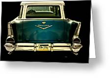 Vintage 1957 Chevy Station Wagon Greeting Card