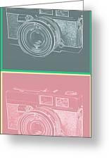 Vintage 35mm Film Camera Pop Art Totem Greeting Card