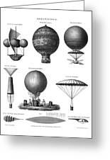 Vintage Aeronautics - Early Balloon Designs Greeting Card