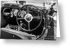 Vintage Aston Martin Dashboard Greeting Card