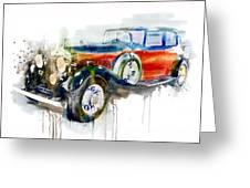 Vintage Automobile Greeting Card