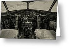 Vintage B-17 Cockpit Greeting Card