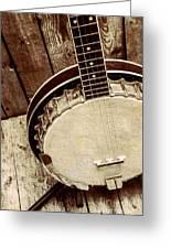 Vintage Banjo Barn Dance Greeting Card