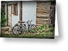 Vintage Bicycles The Journey Greeting Card