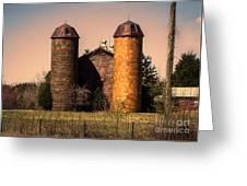 Vintage Brick Barn Greeting Card