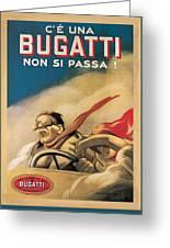 Vintage Bugatti Advert Greeting Card