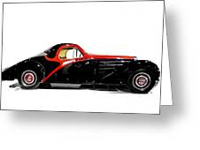 Vintage Bugatti Greeting Card
