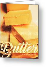 Vintage Butter Advertising. Kitchen Art Greeting Card