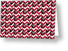 Vintage Camera Chevron Greeting Card