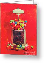 Vintage Candy Store Gum Ball Machine Greeting Card