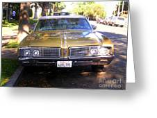 Vintage Car. Front View Greeting Card