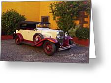 Vintage Car In Funchal, Madeira Greeting Card