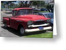 Vintage Chevrolet Apache 32 Pickup Greeting Card