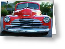 Vintage Chevy Pickup Truck Greeting Card