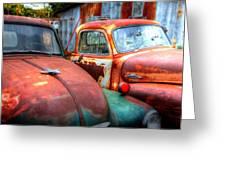 Vintage Chevy Trucks Greeting Card