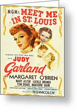 Vintage Classic Movie Posters, Meet Me In St. Louis Greeting Card