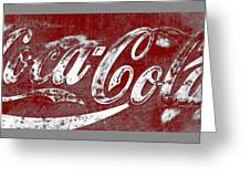 Coca Cola Red And White Sign Gray Border With Transparent Background Greeting Card