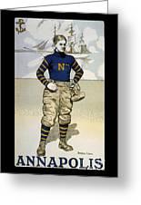 Vintage College Football Annapolis Greeting Card