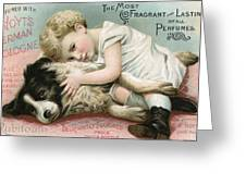 Vintage Cologne Advertisement Greeting Card