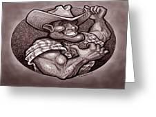 Vintage Cowboy Greeting Card