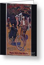 Vintage Cycle Poster March Davis Cycle 100 Dollars Greeting Card