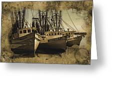 Vintage Darien Shrimpers Greeting Card