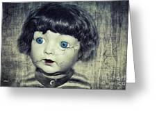 Vintage Doll Greeting Card