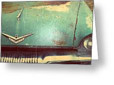 Vintage Effects Plymouth Hood Greeting Card