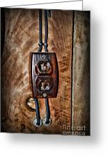Vintage Electrical Outlet Greeting Card