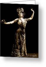 Vintage Exotic Dancer Greeting Card