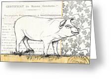 Vintage Farm 2 Greeting Card by Debbie DeWitt