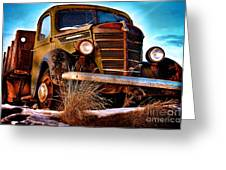 Vintage Farm Truck Greeting Card