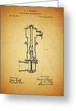 Vintage Fire Hydrant Greeting Card