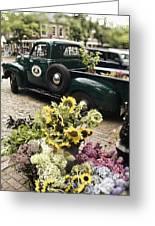 Vintage Flower Truck-nantucket Greeting Card