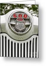 Vintage Ford 600 Nameplate Emblem Greeting Card