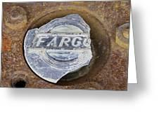 Vintage Fargo Wheel Art Greeting Card