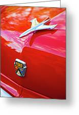 Vintage Ford Hood Ornament Havana Cuba Greeting Card