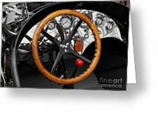 Vintage Ford Racer Dashboard Greeting Card
