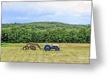 Vintage Ford Tractor Tilt Shift Greeting Card