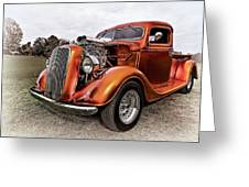 Vintage Ford Truck Rod Greeting Card